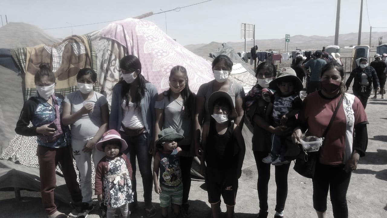Ser repatriada boliviana en el campamento Tata Santiago